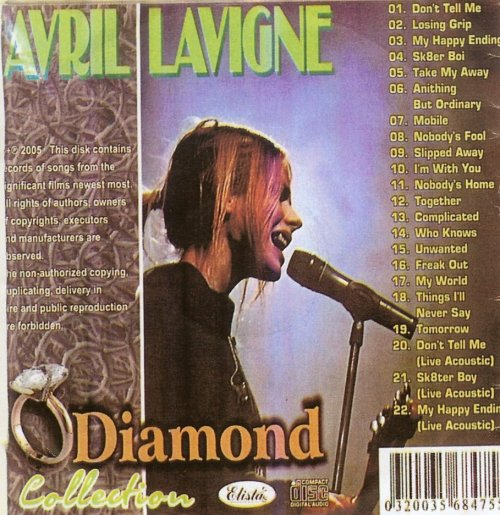 Avril Lavigne - Diamond Collection (Back)