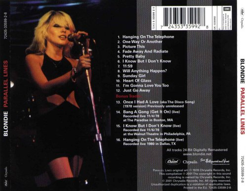 Blondie - Parallel Lines (Remastered) - b